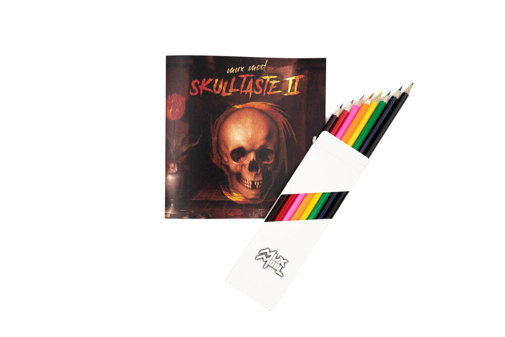 Skulltaste II Coloring Book and Colored Pencil Set