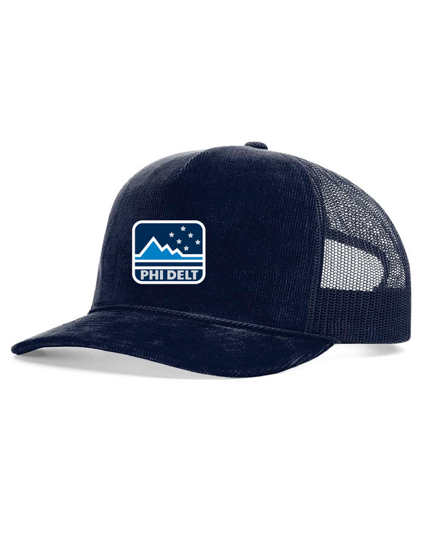 Phi Delt Outdoors Corduroy Trucker Hat