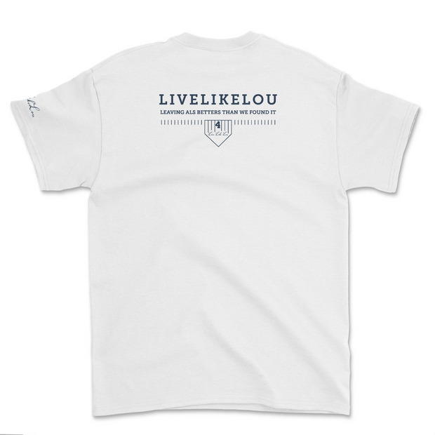 LUCKIEST. LiveLikeLou White Short Sleeve T-Shirt