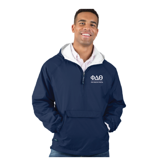 Phi Delta Theta Greek Letters Pullover Jacket