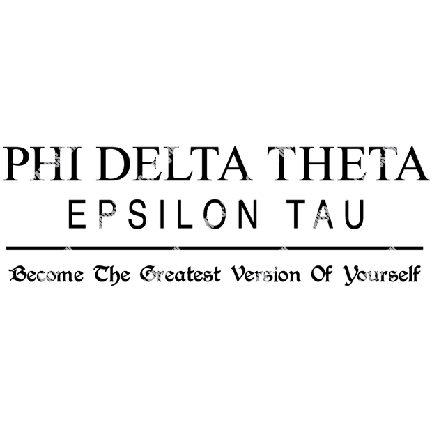 Phi Delta Theta Chapter Name Design