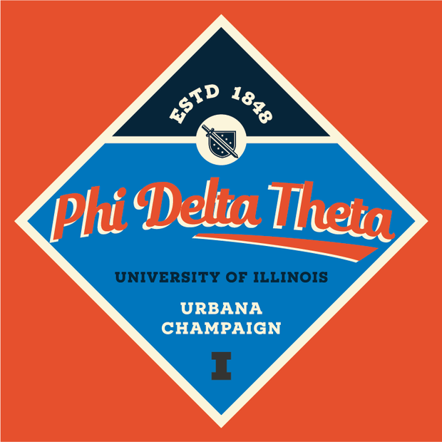 Phi Delta Theta One Diamond Print Design