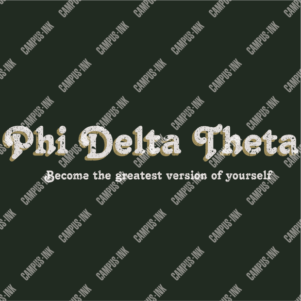 Phi Delta Theta Retro Distressed Letters Design