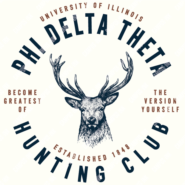 Phi Delta Theta Hunting Club Deer Design