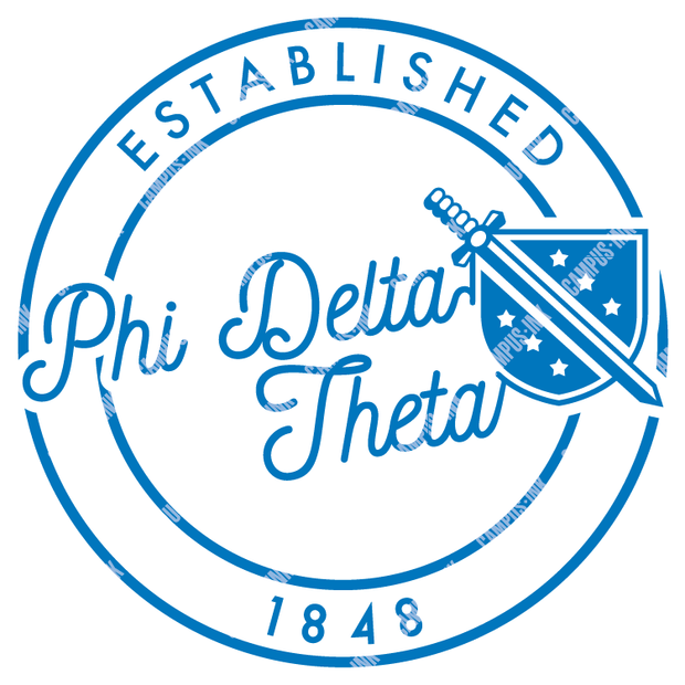 Phi Delta Theta Shield Circle Badge Design