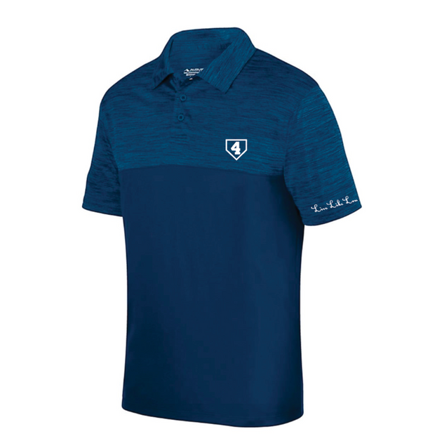 Live Like Lou Shadow Heather Polo Navy