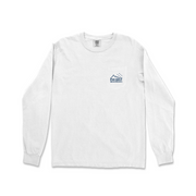Phi Delt Outdoors Long Sleeve White Pocket Tee by Comfort Colors