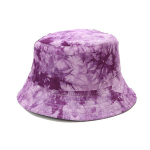 Double-sided Wearing Cap Visor Bucket Hat Men And Women Street Trend Hat Women Tie-dyed Ink Painting Pattern Fisherman Hat