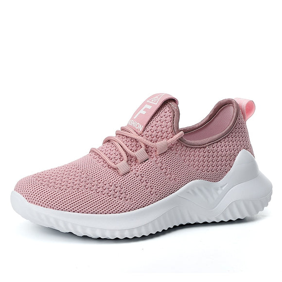 Breathable Mesh Flat Shoes For Women Fashion Casual Sneakers Trainers Ladies Flats Platform Shoes