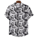 CYSINCOS Summer Funny Avocado Print Men Shirt Turn-down Collar Short Sleeve Casual Beach Hawaiian Shirts Men Streetwear Camisa