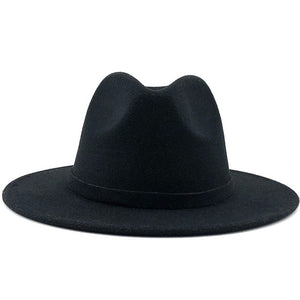 Men Women Wide Brim Wool Felt Jazz Fedora Hats British style Trilby Party Formal Panama Cap Black Yellow Dress Hat 56-58-60CM