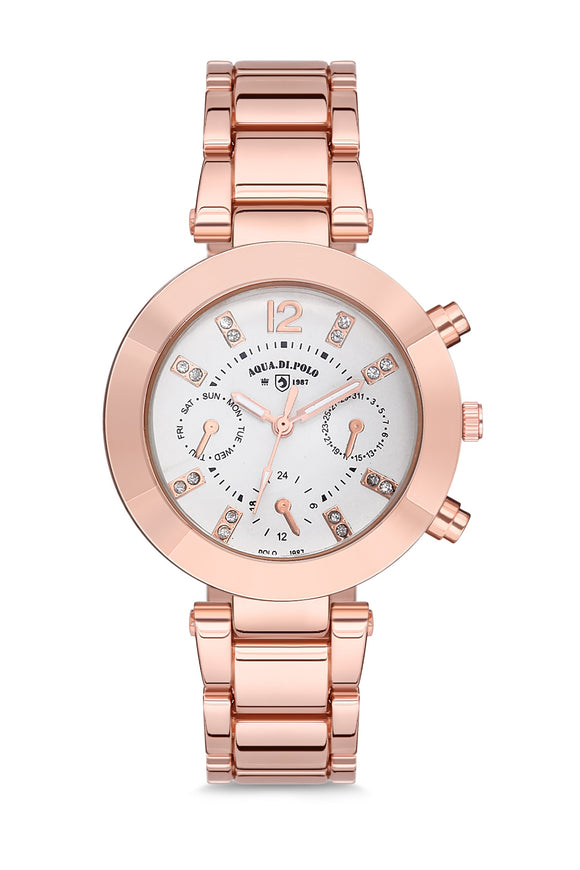 Luxure watch women Metal ladies watch Gift watch for women Rose gold wristwatch Quartz wristwatch часы женские APSR1-A9781-KM252