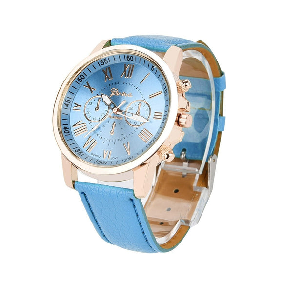 Women's Roman Numerals Faux Leather Analog Quartz Watch Kadies Watches Women Watch Women Bracelet B2