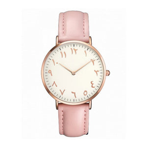 Fashion Simple Women Watch Arabic Numerals Simple Ladies Pu Leather Quartz Wristwatch Casual Students Clock Gift For Girl Hot