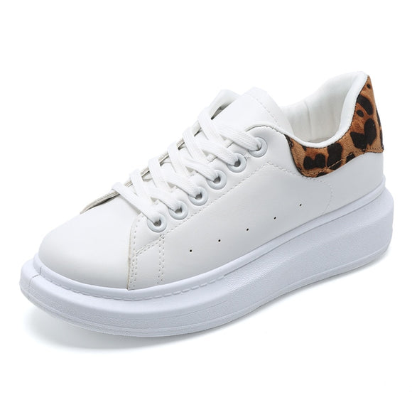 2020 spring lace-up white shoes woman casual women shoes sneakers fashion leather solid color female shoes tenis feminino K14-03