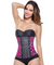 Sport Waist Trainer - Animal Print - Pink -  3 Rows - Long