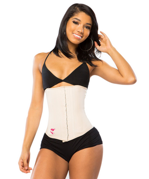 """All Latex"" Waist Trainer - Classic Length - 2 Rows"