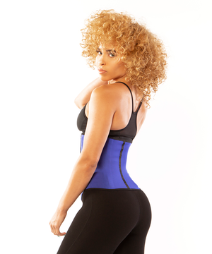 1849 - Sport Shapewaist Waist Trainer - 3 Rows | Blue | Long