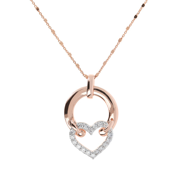 CZ-Heart-and-Golden-Rosé-Design-Necklace_necklaces_crystal