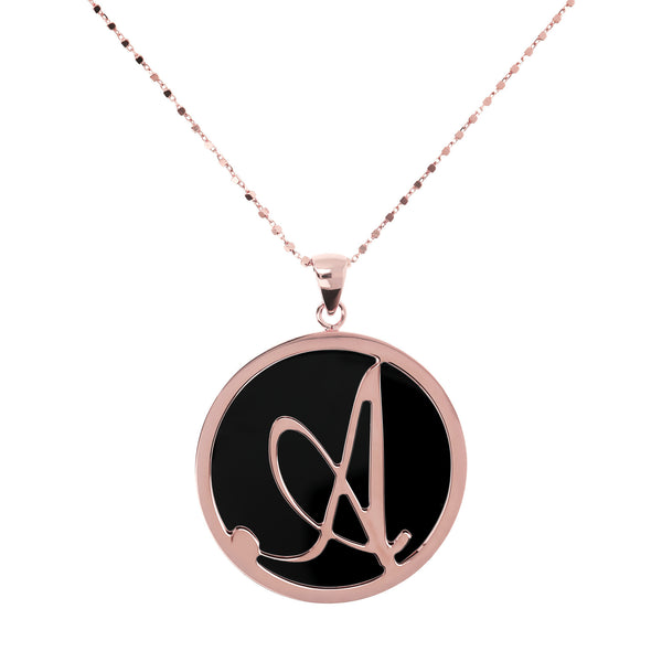 "Large-Custom-Initial-""Z""-Pendant-Necklace-with-Black-Onyx_necklaces_black_A"