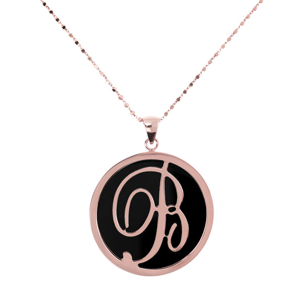 "Large-Custom-Initial-""Z""-Pendant-Necklace-with-Black-Onyx_necklaces_black_B"