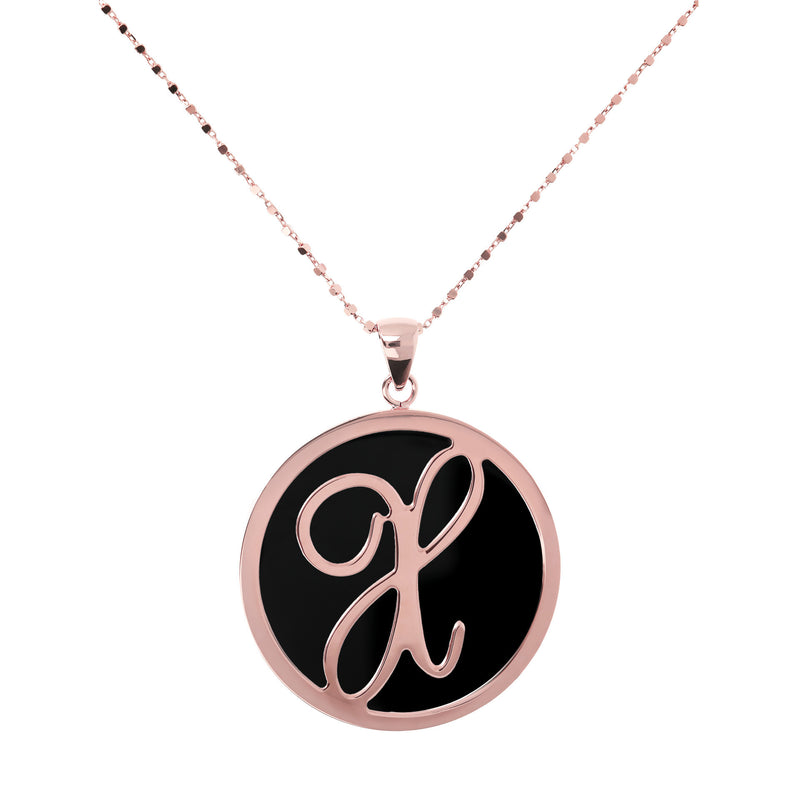 "Large-Custom-Initial-""Z""-Pendant-Necklace-with-Black-Onyx_necklaces_black_X"