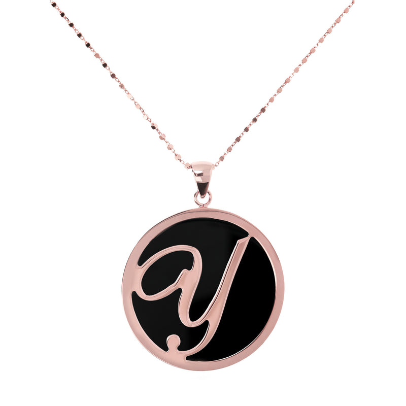 "Large-Custom-Initial-""Z""-Pendant-Necklace-with-Black-Onyx_necklaces_black_Y"