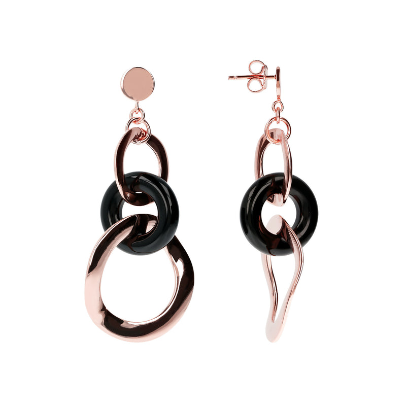 Rose-Gold-Plated-Link-Earrings_earrings_black_1
