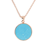 Medium Stone Disc Pendant Necklace