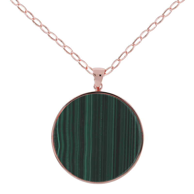 Alba Big Disc Pendant Necklace