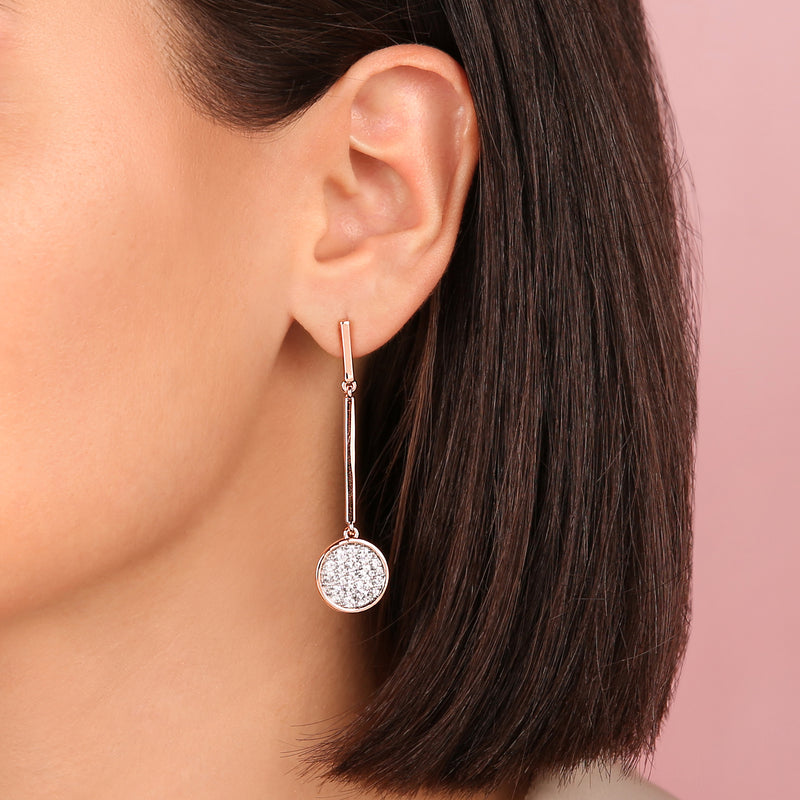 Pavé Wand Earrings
