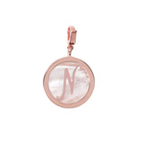 Letter Charm in Pink Mother of Pearl