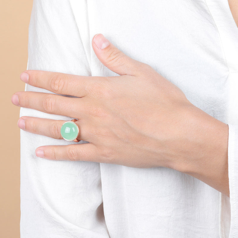 Pastel Gemstone Cabochon Ring