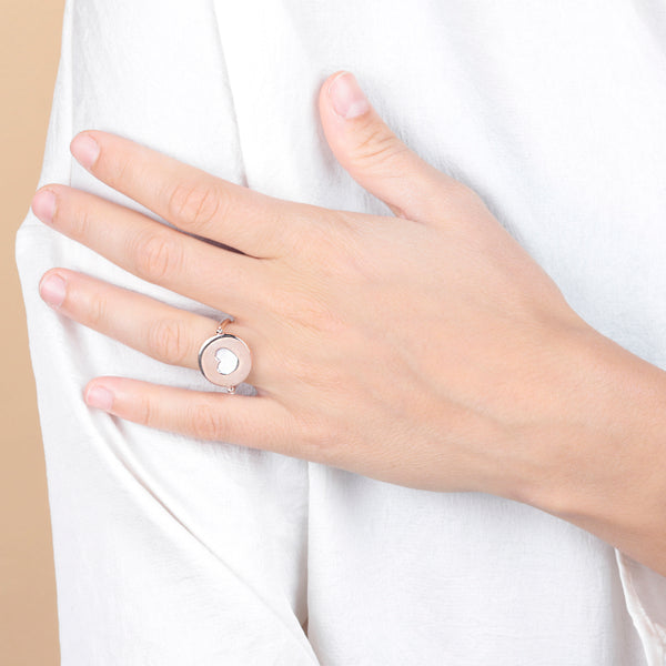 Alba Revolving Ring with Secret Heart