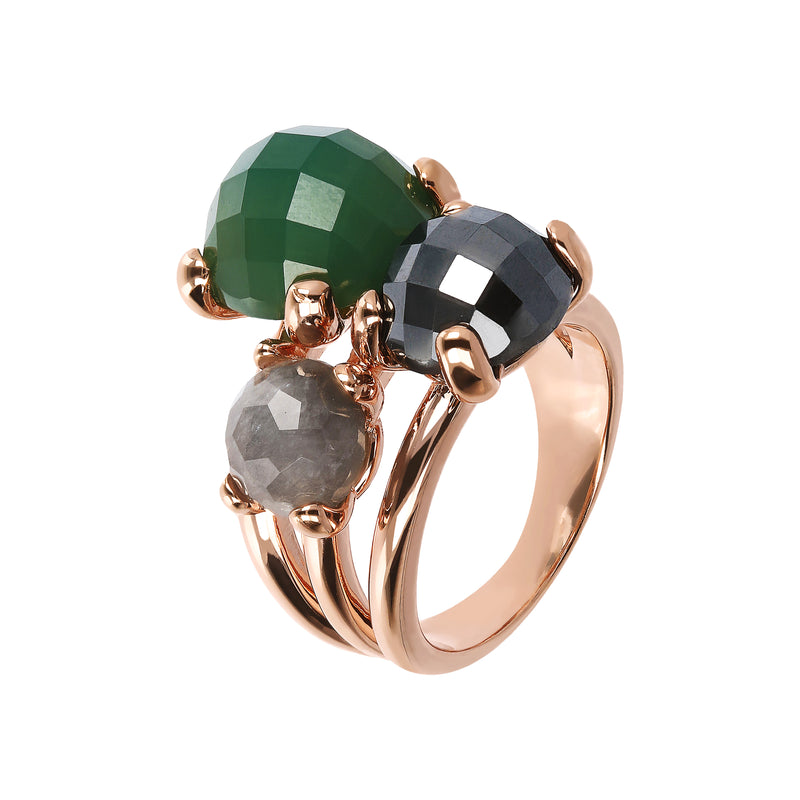Trilogy Felicia Ring with Semi Precious Stones