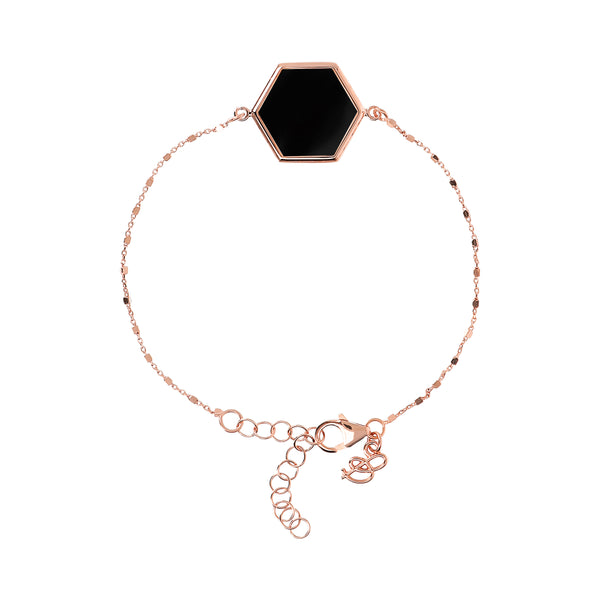 Cube Chain Bracelet with Hexagon