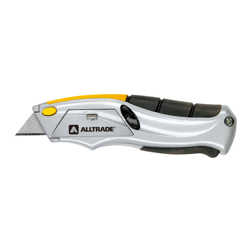 Alltrade Squeeze Knife Auto-Loading Utility Knife Box Cutter w/6 Blades - 150003