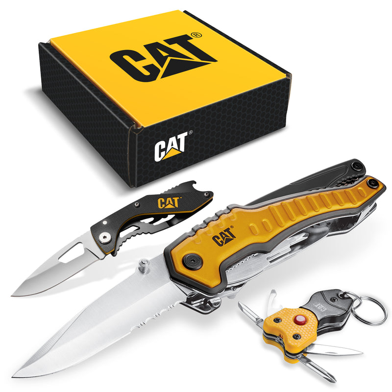 3 Piece Multi Tool and Knife Gift Box Set