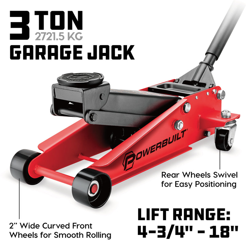 3 Ton Powerbuilt Garage Jack
