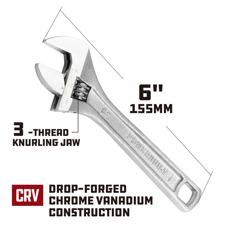 6 in. Adjustable Wrench