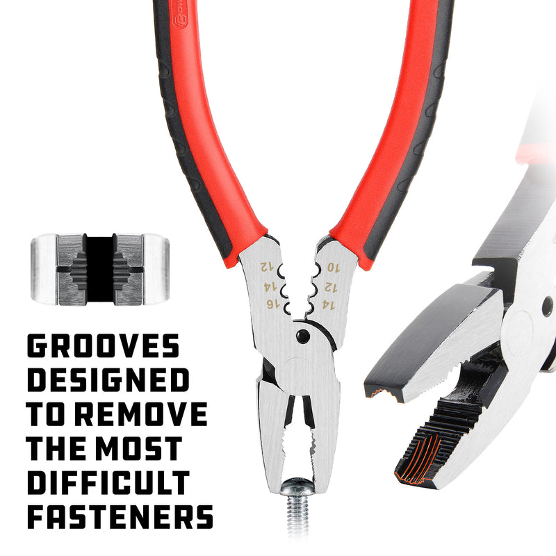 Powerbuilt 6 in. Rusted and Damage Screw Extraction Pliers with Wire Cutter