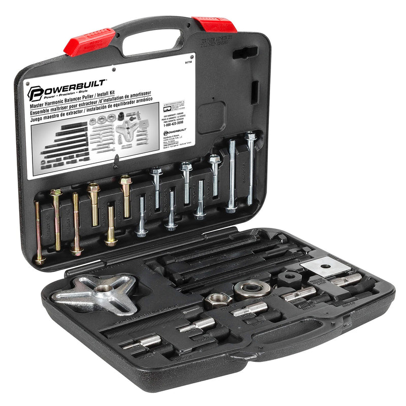 Powerbuilt Master Harmonic Balancer Puller / Pulley Installer Kit - 647758