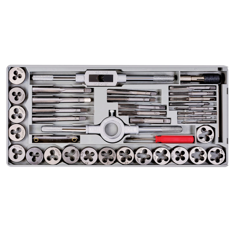 Powerbuilt 40 Pc. Metric Tap & Die Set W/Injection Case - 647772
