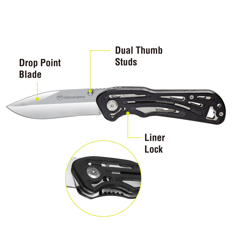 Caula 7-1/2 in. Folding Knife - Polished Blade