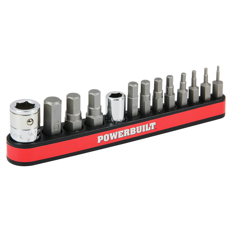 13 Piece Metric Hex Bit and Socket Adapter Set