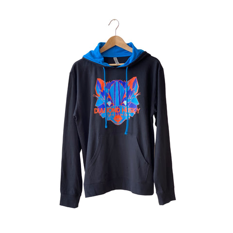 BLUE/ORANGE DIAMOND HUSKY HOODIE