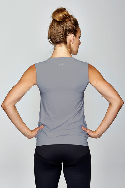 svvet grey sleeveless top back view