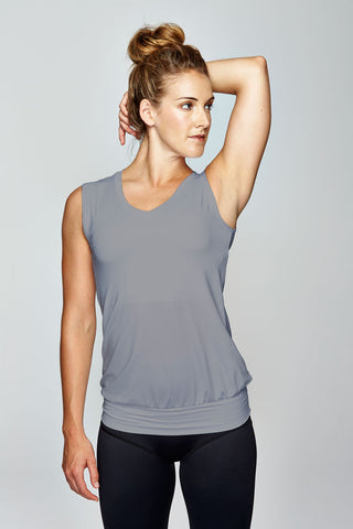 svvet grey sleeveless top front view