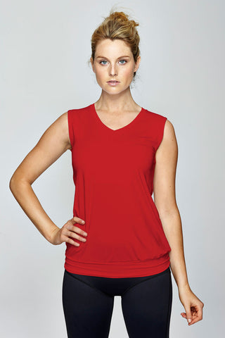 svvet red sleeveless top front view