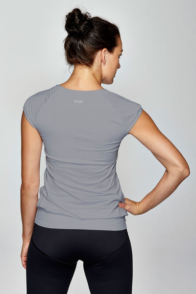 svvet grey cap sleeve top back view